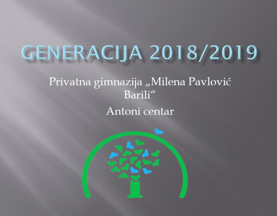 Privatna gimnazija Antoni MP Barili Generacija 2018/19